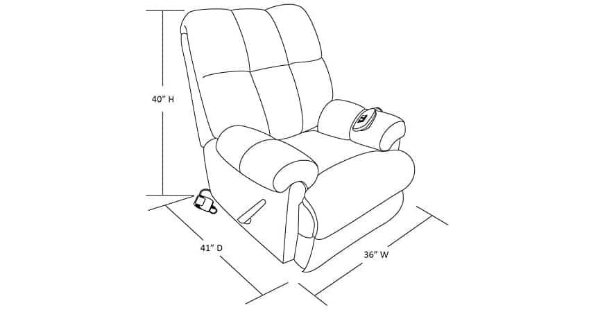 Dorel Living Padded Dual Massage Recliner Review